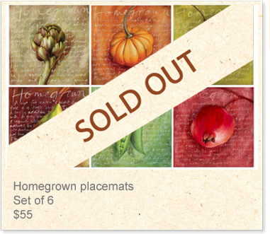 Placemats: Homegrown