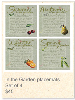 Placemats: In the Garden